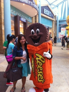 So happy to finally have a picture taken with Mr. Reese's!